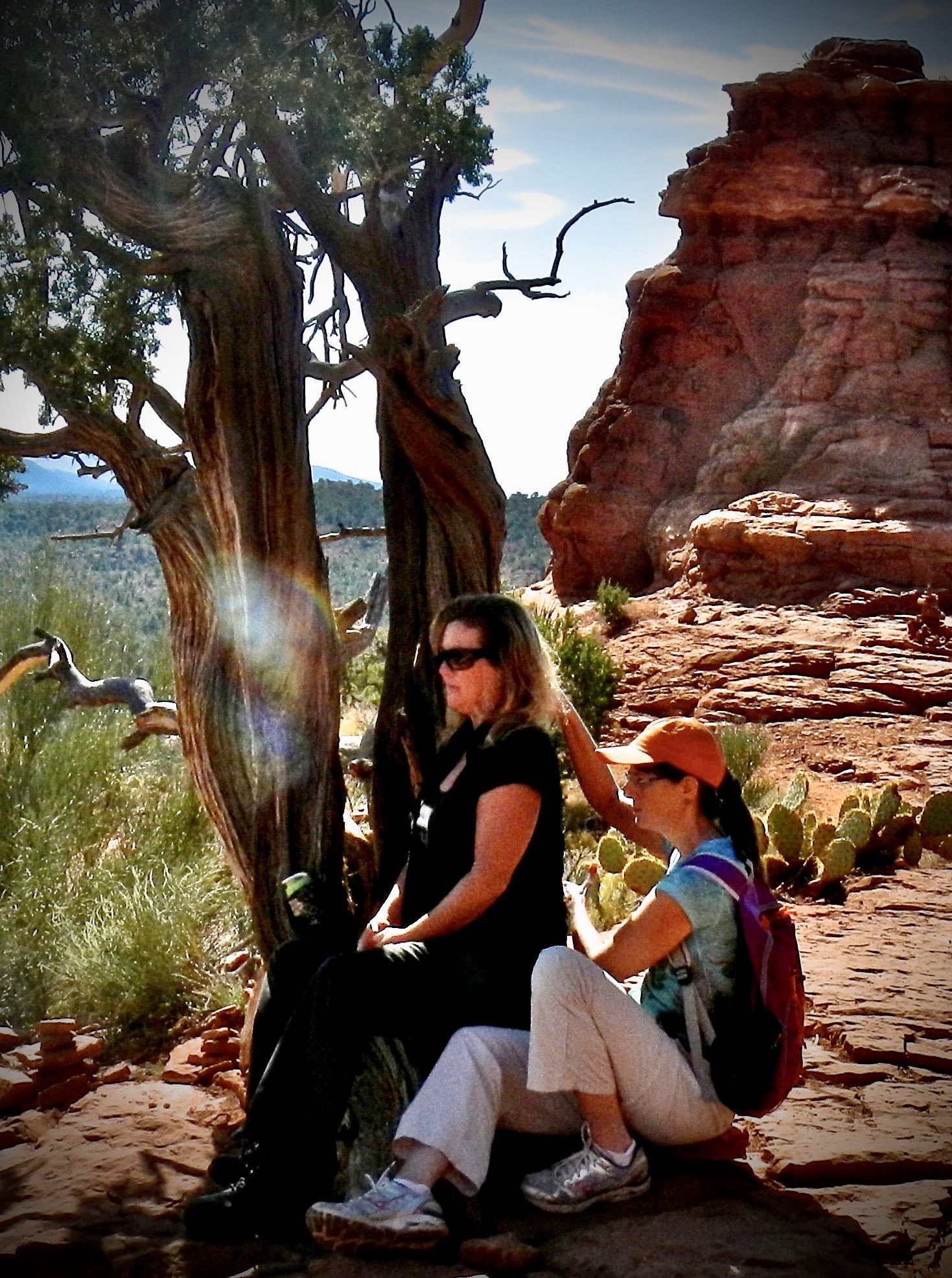 Anita Owen's guide, King Solomon, can be clearly seen in our energy session at a Sedona, AZ vortex point.
